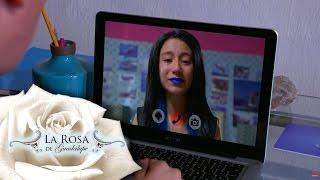 Esther acepta el reto final de La Ballena Azul   Cuando encallan las ballenas   La Rosa de Guadalupe