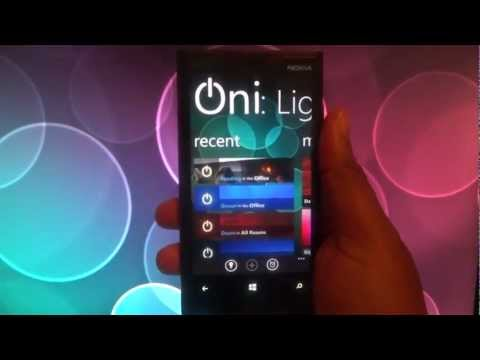 Oni: Light Control NFC Update -  Color your lights to match your mood. Windows Phone - Philips Hue