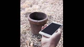 dropping brand new iphone down the deepest hole ever..