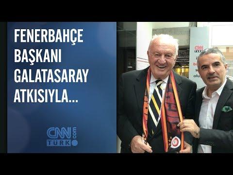 Fenerbahçe başkanı Galatasaray atkısıyla...