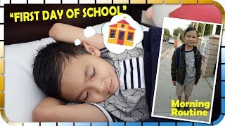 FIRST DAY OF SCHOOL MORNING ROUTINE and BACK HOME!!!