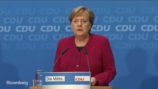 Merkel Says She Won't Seek Re-Election as CDU Leader