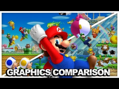 New Super Mario Bros: Wii vs Wii U Graphical Comparison