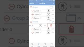 Winkhaus blueCompact app, resetting cylinder to factory settings (iOS)