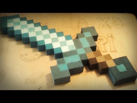 Minecraft Homemade Diamond Sword - Gyémántkard Házilag video