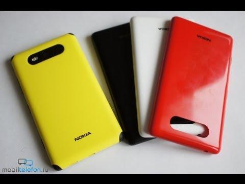 Обзор Nokia Lumia 820 (review): сменные крышки, зарядка, наушники
