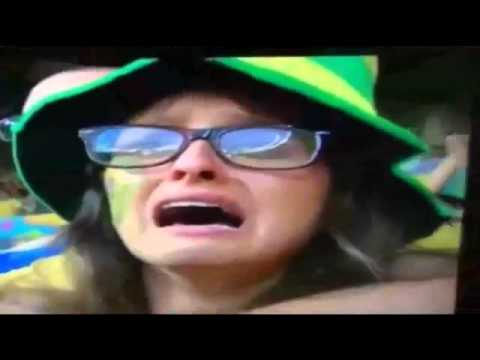 Brazil Fan Cry Crying Cries during Brazil vs Germany 1-7 Semifinal FIFA World Cup 2014