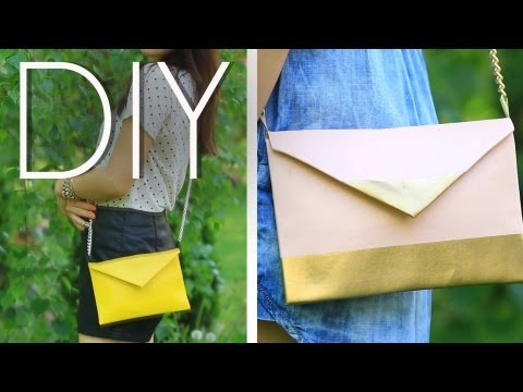 DIY EASY No Sew Cute Cross Body Mini Purse/Clutch {How to MAKE}