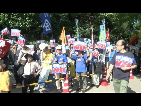 Thousands of Japanese Protest against US-military-base-moving Plan