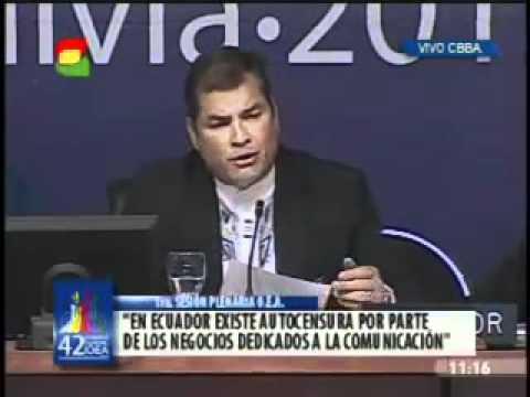 Intervención del Presidente Rafael Correa en la  OEA Cochabamba   Bolivia