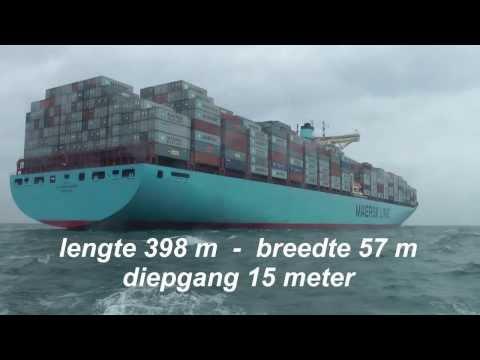 Time Lapse: Eleonora Maersk aankomst Europahaven APM Rotterdam