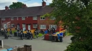 Video Shows Police Raid In Manchester