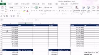 Highline Excel 2013 Class Video 29: Flash Fill: Extract, Combine, Insert, Reverse Data (25 Example)