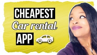 Cheapest Car Rental App Ever!🚗 No Deposit