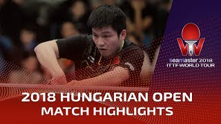 2018 Hungarian Open Highlights: Fan Zhendong vs Wang Chuqin (Final)