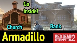 Inside Bank of Armadillo and Church in Red Dead Redemption 2 (RDR2)