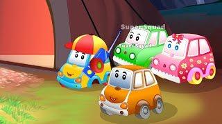 Baby cars on a Treasure Hunt | PoliceCar & Fire Truck Cartoon Rhyme for kids