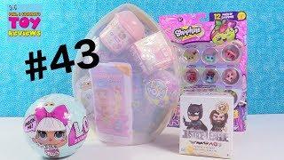 Giant Surprise Egg #43 Unboxing LOL Surprise Squishies Disney Toys | PSToyReviews