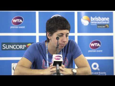 Carla Suarez Navarro press conference (2R) - Brisbane International 2015