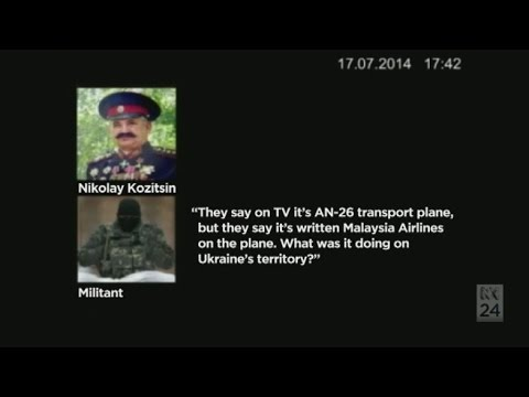 Translated script of alleged separatists speaking about downed airliner