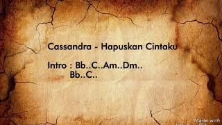 Download Lagu Cassandra - Hapuskan Cintaku | Video Lyric & Chord Gitar Gratis STAFABAND