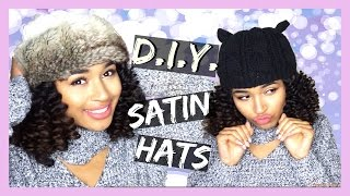DIY Satin Beanie Tutorial for Winter (No Sewing!) | Lana Summer