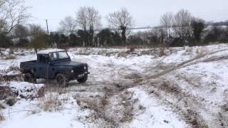 Bit of off road fun in the snow Landy style