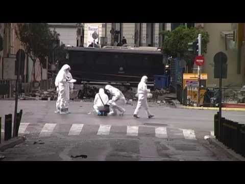 Car Bomb- Explosion Outside Bank Of Greece (Athens, 10/04/2014)