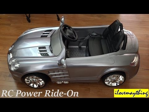 RC Toy Car Power Ride-On Mercedes-Benz Mclaren Unboxing & Assembling