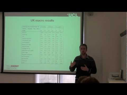 Pt 2: 'Multisectoral effects of a carbon tax on the UK economy', Dr Matthew Winning, UCL