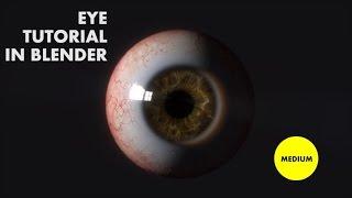 Eye tutorial in Blender