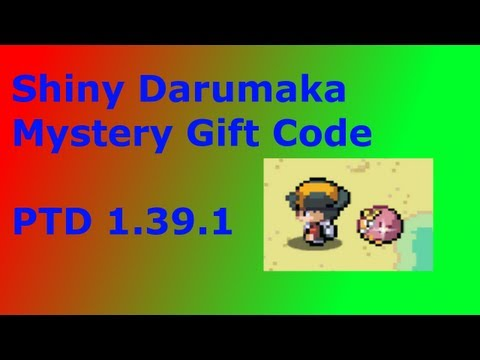 Pokemon Tower Defense Shiny Darumaka Mystery Gift Code