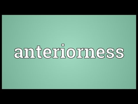 Header of Anteriorness