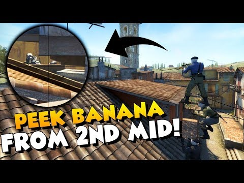 CS:GO - HOW TO PEEK BANANA FROM SECOND MID - Crazy Inferno Boost!
