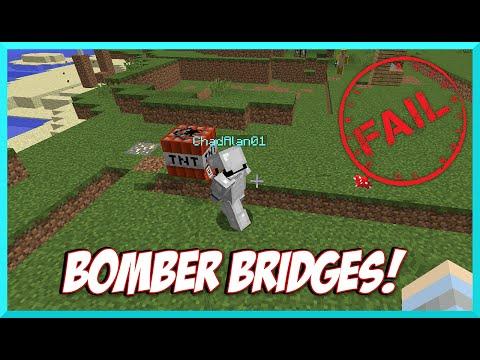 Minecraft - Epic Fail at Bomber Bridges with Gamer Chad Alan on Mineplex