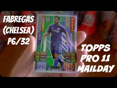 FABREGAS (P6) 🏆 PRO 11 MAILDAY 🏆 Topps MATCH ATTAX PREMIER LEAGUE 2015-16 Trading Cards