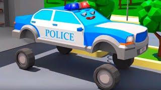 Police Car for Kids - 3D Cartoon