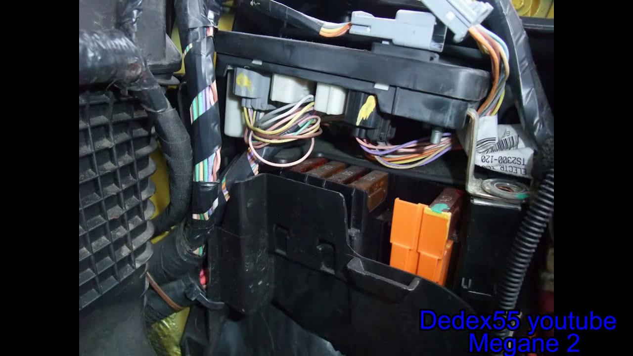 Renault Megane 2003 Fuse Box Location : Megane fuse box sigorta kutusu youtube