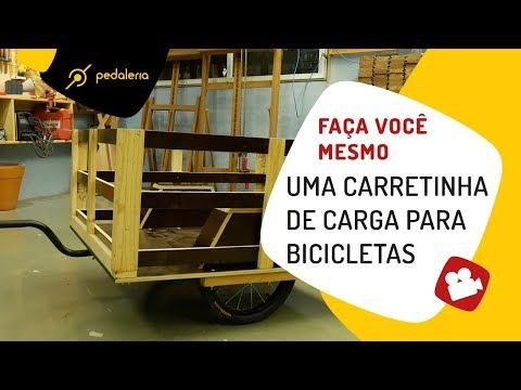 Como fazer uma carreta para bike Pedaleria e Oficina de Casa