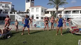 Maria luna dancing in Akti beach