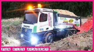 Xe ô tô tải chở cát, xe ben, xe máy xúc RC, xe công trình - Đồ chơi trẻ em mới nhất