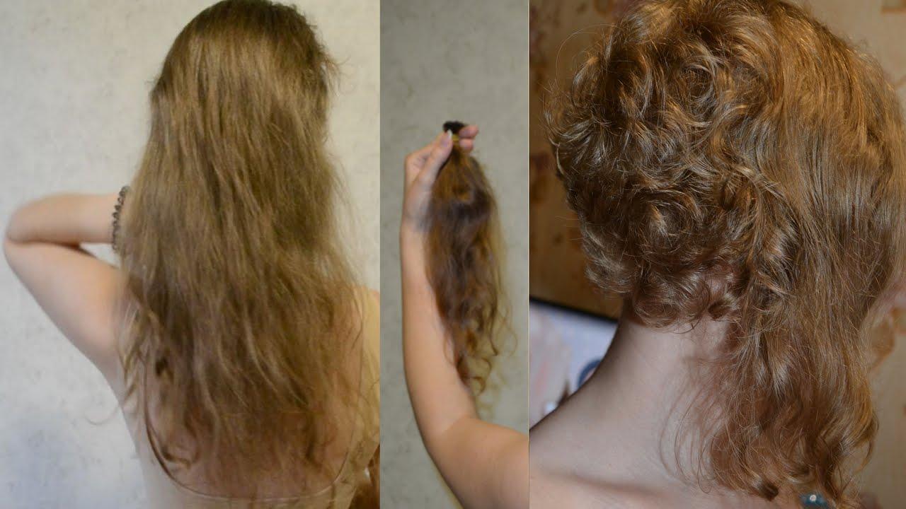 Прическа на пушистые волосы быстро