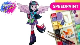 How to Draw My Little Pony Equestria Girls Princess Twilight Sparkle - Speedpainting
