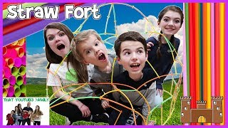 Straw Fort Challenge 🥤 / That YouTub3 Family