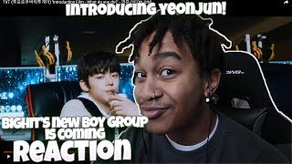 LET'S TALK ABOUT TXT (투모로우바이투게더) + 'Introduction Film - What do you do?' - 연준 (YEONJUN) - REACTION