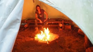Smoke free tepee?! How to dig an air tunnel underneath!