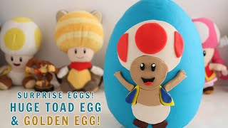 SURPRISE EGGS! Huge Toad Play-Doh Surprise Egg and a Golden Egg!