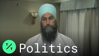 Canadian Politicians Jagmeet Singh, Andrew Scheer Respond to Trudeau39s quotBrownfacequot Photo