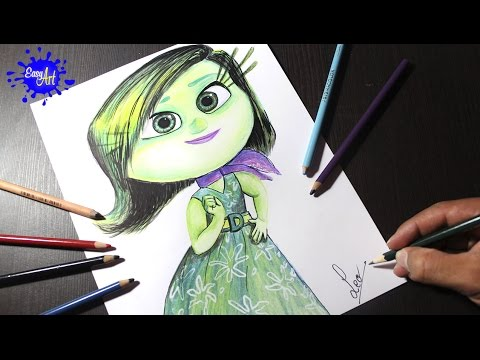 Inside Out l how to draw Disgust l intensa mente l Dibujando a Desagrado
