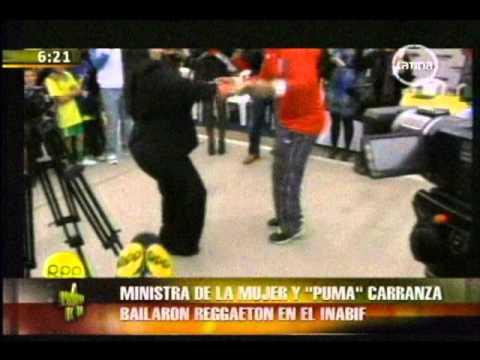 Ministra de la Mujer bailó reggaeton con Puma Carranza